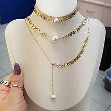 54393锁链形, 多层链, 其他分类特征, 植物叶子 珍珠 珠子 三件套 三层