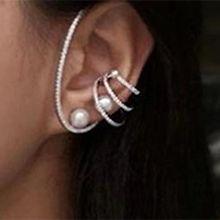 54669耳钉式C形 珍珠 珠子