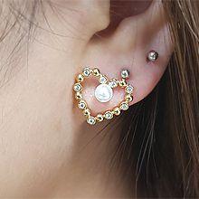 54739耳�式, 心形心形 珠子 珍珠