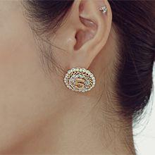 54776耳钉式数字 5  珍珠 珠子 圆形
