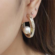 54779耳钉式C形 珍珠 珠子
