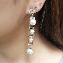 54780耳钉式长方形 圆形 珍珠 珠子