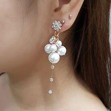 54783耳钉式, 植物花 珍珠 珠子