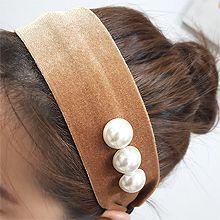 54631发箍发带发箍 珍珠 珠子 绒布