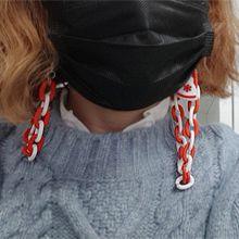 54611锁链 椭圆形 雪花 圣诞帽 雪人 口罩绳