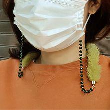 54618珠子 毛毛 口罩绳
