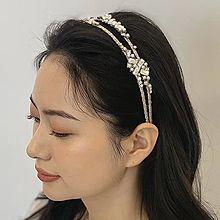 52613发箍发带圆形 珠子 双层 发箍
