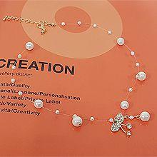 52634单层链, 蝴蝶结, 其他形状蝴蝶结 圆形 珠子 珍珠