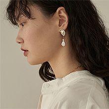 52679耳钉式, 平面/立体几何图形, 其他形状圆形 珍珠 水滴形 不规则形