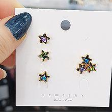 52728耳钉式, 天体自然现象, 平面/立体几何图形五角星