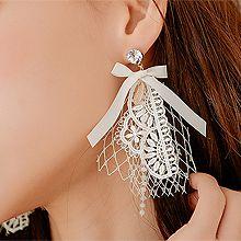 52812耳钉式, 蝴蝶结, 植物, 平面/立体几何图形, 其他形状蝴蝶结 花 菱形