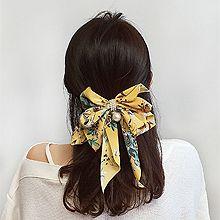52645边夹顶夹, 蝴蝶结, 植物蝴蝶结 花 叶子 圆形 珠子