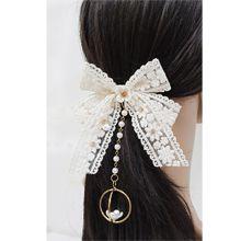 52651发梳插梳, 蝴蝶结, 植物, 平面/立体几何图形蝴蝶结 花 圆形 珠子镂空