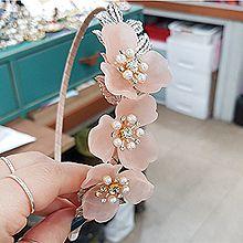 52786发箍发带, 植物, 平面/立体几何图形花 叶子 圆形 珍珠