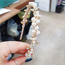 52787发箍发带, 植物, 平面/立体几何图形, 其他形状珍珠 花 圆形