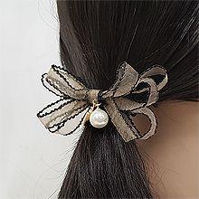 52809发圈发绳, 蝴蝶结, 平面/立体几何图形蝴蝶结 圆形 方形 珍珠