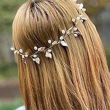 52819发箍发带, 其他分类特征, 植物, 平面/立体几何图形叶子 椭圆形 圆形 珍珠