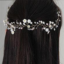 52821发箍发带, 其他分类特征, 植物, 平面/立体几何图形, 其他形状花 叶子 圆形 珍珠