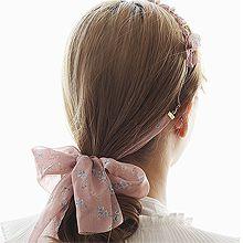 52889发箍发带, 蝴蝶结, 植物, 平面/立体几何图形, 其他形状花 叶子 圆形 珍珠 蝴蝶结