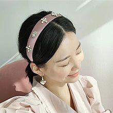 52903发箍发带, 植物, 平面/立体几何图形, 其他形状花 叶子 圆形 椭圆形 长方形 珍珠