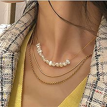 52853锁链形, 多层链, 平面/立体几何图形, 其他形状珍珠 三层链 锁链 蛇链 盒子链