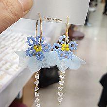 52995耳圈耳扣, 植物, 平面/立体几何图形, 其他形状花 圆形 三角形 圆环 珠子 流苏