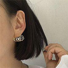 53032耳钉式, 植物, 平面/立体几何图形, 其他形状花 圆形  镂空