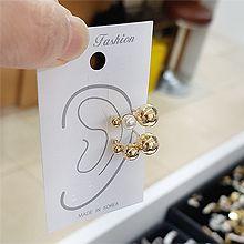 53052耳夹, 平面/立体几何图形, 其他形状圆形 圆球 珍珠