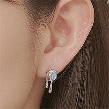 53098耳钉式, 平面/立体几何图形, 其他形状圆形 水滴形