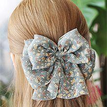 52923边夹顶夹, 蝴蝶结, 植物, 平面/立体几何图形蝴蝶结 花 叶子 长方形 弹簧夹