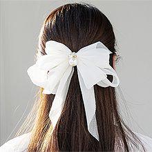 52972边夹顶夹, 蝴蝶结, 平面/立体几何图形, 其他形状蝴蝶结 圆形 长方形 珍珠