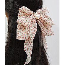 52999边夹顶夹, 蝴蝶结, 植物, 平面/立体几何图形, 其他形状花 圆形 长方形 叶子 珍珠