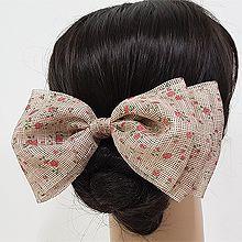 53149边夹顶夹, 蝴蝶结, 植物, 平面/立体几何图形, 其他形状蝴蝶结 花 叶子 长方形 弹簧夹