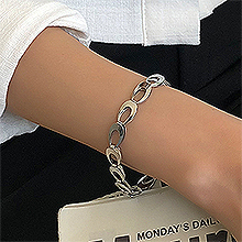 53086锁链形, 单层链, 其他分类特征, 平面/立体几何图形, 其他形状椭圆形 镂空 锁链形