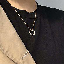 52921锁链形, 单层链, 字母数字/符号, 平面/立体几何图形, 其他形状圆形 圆环 锁链