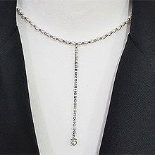 52996珠仔链, 单层链, 平面/立体几何图形, 其他形状圆形 珍珠 流苏