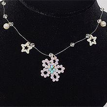 52998穿珠链, 单层链, 天体自然现象, 植物, 平面/立体几何图形, 其他形状花 星星 圆形 珍珠 五角星
