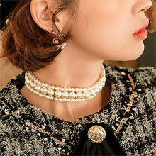 53024穿珠链, 多层链, 平面/立体几何图形, 其他形状长方形 圆形 珍珠