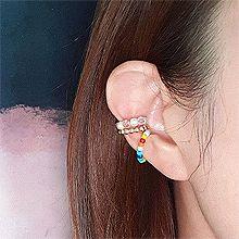 53185耳夹, 其他分类特征, 平面/立体几何图形, 其他形状圆形 珠子 珍珠 C形