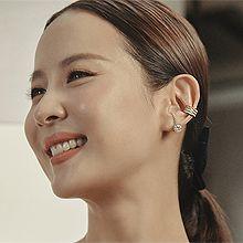 53267耳圈耳扣, 平面/立体几何图形, 其他形状C形 弧形 圆形 明星款 赵茹珍