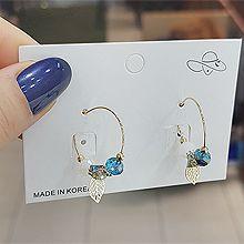 53291耳圈耳扣, 植物, 平面/立体几何图形, 其他形状叶子  圆形 珠子  圆环 不规则形