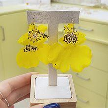 53330耳圈耳扣, 植物, 平面/立体几何图形, 其他形状花 圆形 不规则形 珍珠 珠子