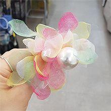 53250发圈发绳, 植物, 平面/立体几何图形, 其他形状花 圆形 珍珠 椭圆形