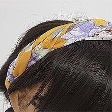 53273发箍发带, 植物, 平面/立体几何图形, 其他形状花 叶子 交叉 麻花