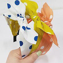 53311发箍发带, 蝴蝶结, 平面/立体几何图形, 其他形状蝴蝶结 圆形 圆点 发箍