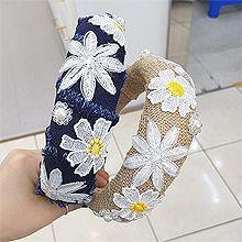 53331发箍发带, 植物, 其他形状花 圆形 珠子 珍珠 椭圆形 编织 刺绣 毛边 发箍