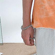 53259锁链形, 单层链, 平面/立体几何图形, 其他形状锁链形 椭圆形 挂钩