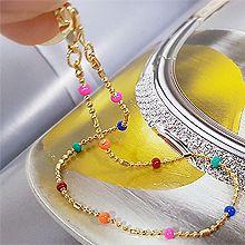 53276珠仔链, 单层链, 其他分类特征, 平面/立体几何图形, 其他形状圆形 珠子 长方形 珠子链