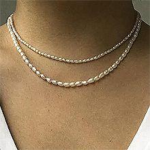 53279穿珠链, 多层链, 其他分类特征, 平面/立体几何图形, 其他形状圆形 椭圆形 双层 两件套 天然珍珠