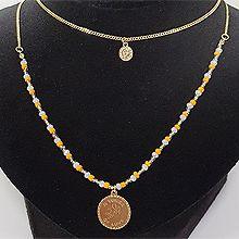 53296锁链形, 穿珠链, 多层链, 其他分类特征, 人物人体, 平面/立体几何图形, 其他形状圆形 珠子 珍珠 人物像  天使 两件套